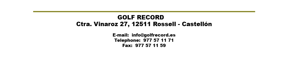 Display stands of GOLF RECORD brand. To hold your Golf itrms. Thanks for visit us