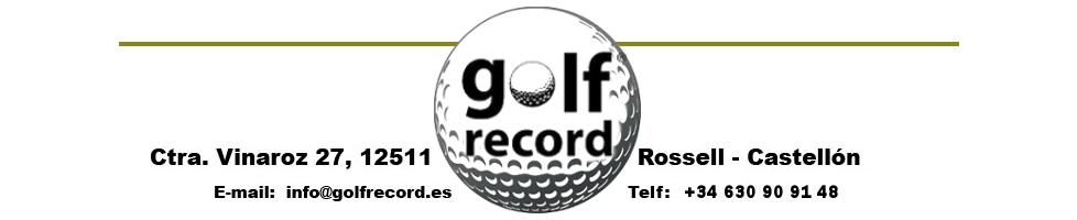 Muebles expositores de la marca Golf Record. Para guardar tus articulos de Golf.