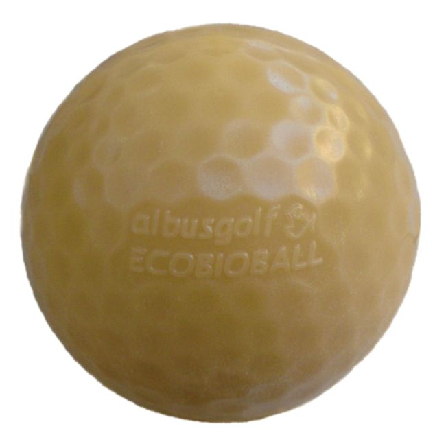 Ecologic and biodegradable golf ball for Fish food golf balls